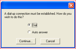 how do you wish to establish a connection