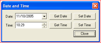 date and time screen