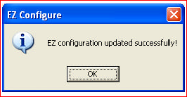 EZ configuration updated successfully