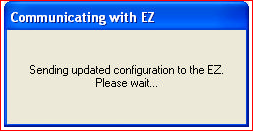 sending updated configuration to EZ