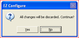 all changes will be discarded
