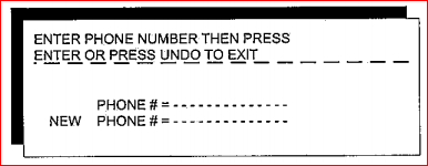 enter phone number or press undo to exit